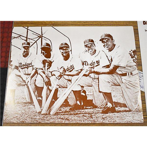 1954 BROOKLYN DODGERS PHOTO /W SNIDER, ROBINSON,