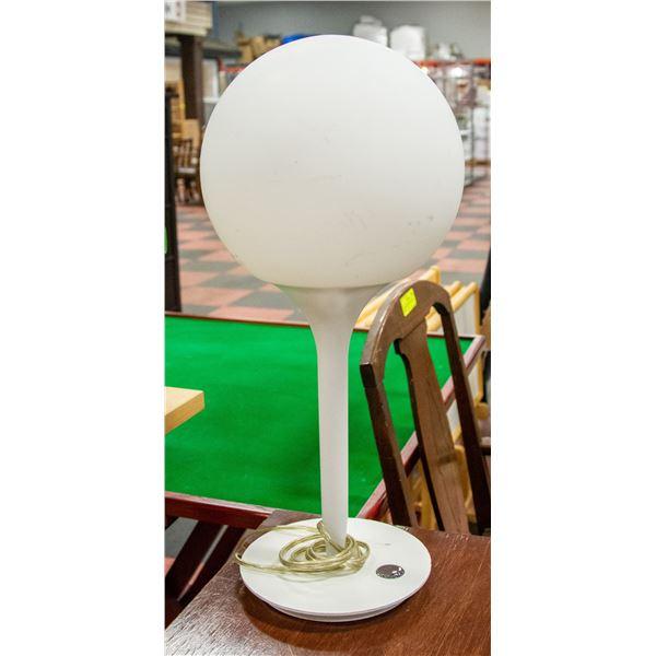 RETRO 1970'S GLOBE TOUCH LAMP WORKS NO CRACKS
