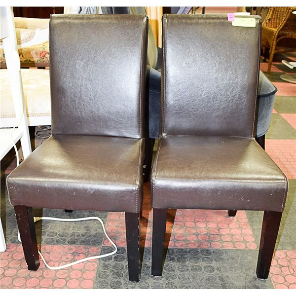 PAIR OF CHILDREN'S LEATHERETTE CHAIRS