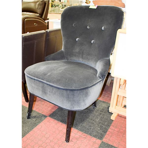 CHARCOAL GREY ACCENT CHAIR