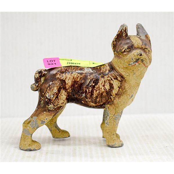 ANTIQUE CAST METAL DOG
