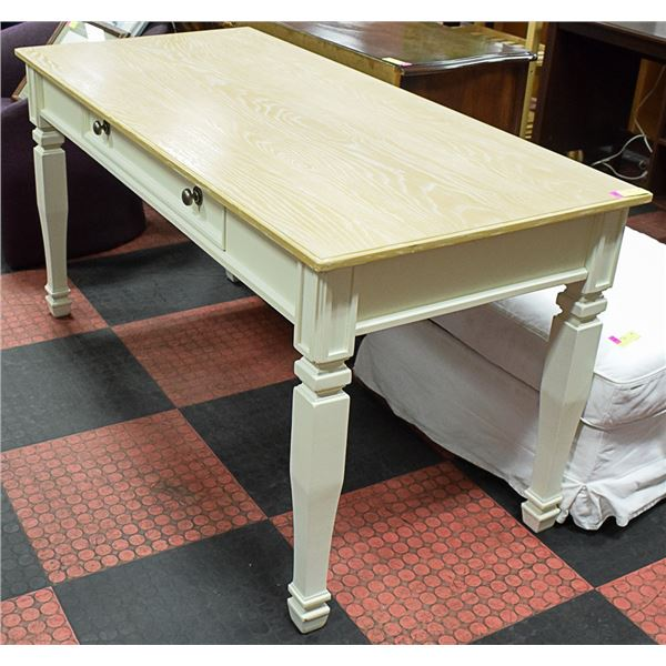 """WOODEN TABLE W/ DRAWER APPROX H-31"""" W-28"""" L-60"""""""