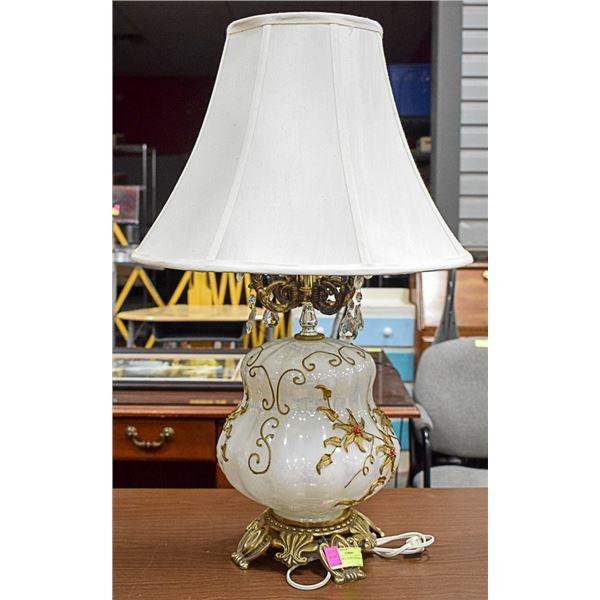 VINTAGE ART GLASS LIVING ROOM LAMP