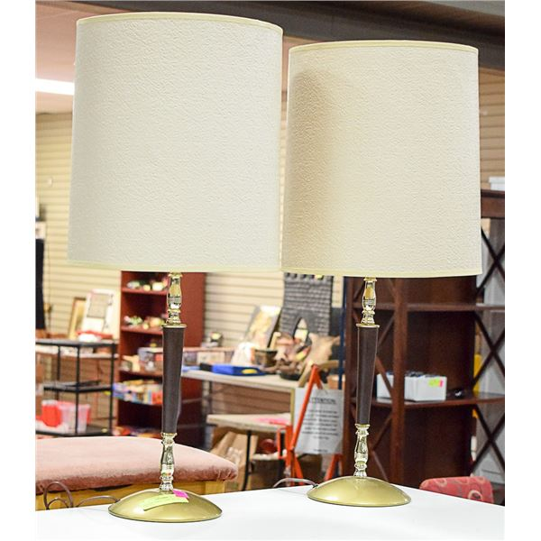"""PAIR OF VINTAGE TABLE LAMPS APPROX 26""""TALL"""