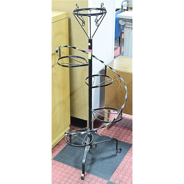 """METAL TIERED PLANT STAND 45"""" TALL"""