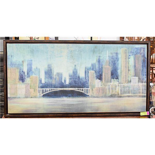 """DECORATIVE ARTWORK CITY LANDSCAPE 42"""" X 22"""""""