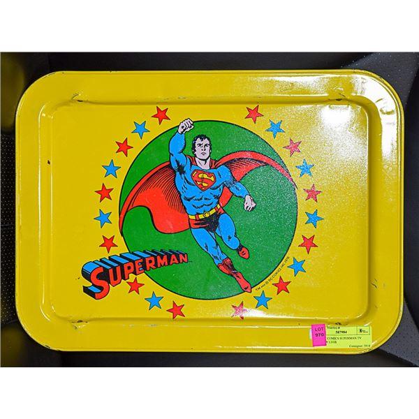 1976 DC COMICS SUPERMAN TV TRAY /W LEGS
