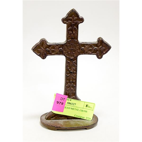 SMALL DETAILED METAL CROSS