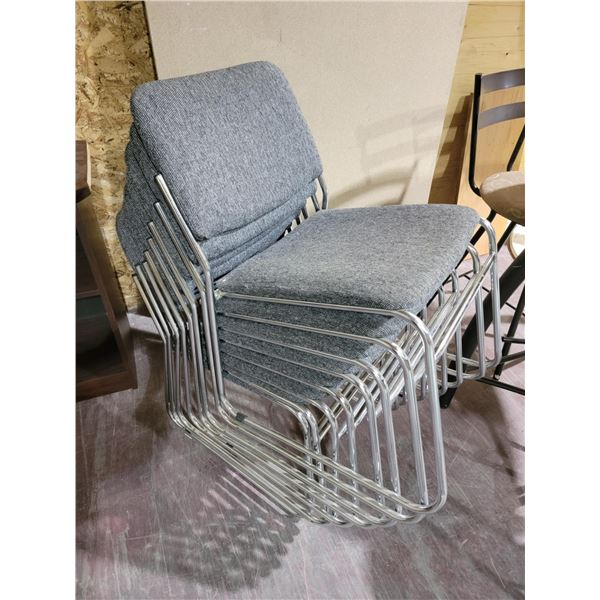 LOT OF 8 STACKING CHAIRS