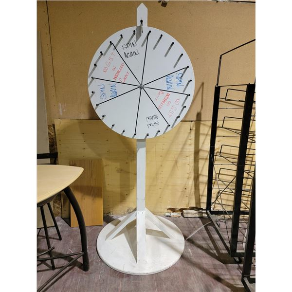 SPINNING PRIZE WHEEL  APPROX 6FT TALL