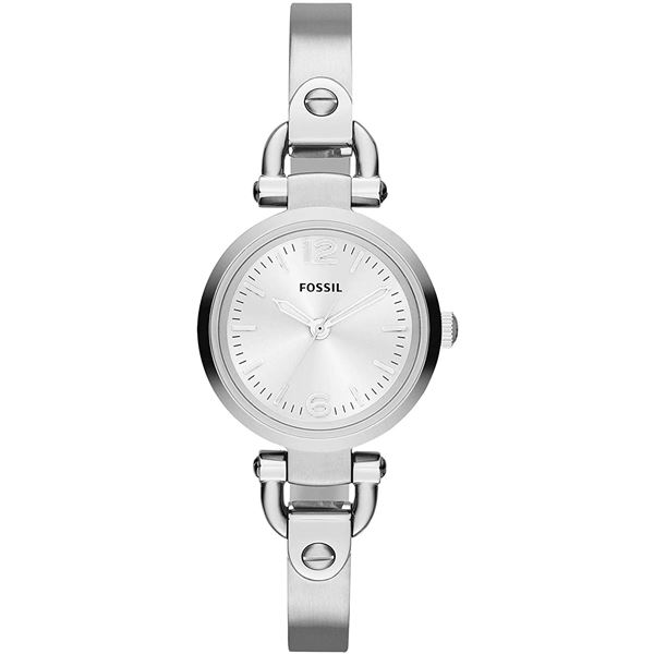 NEW FOSSIL SILVER DIAL ST. STEEL 26MM MSRP $199