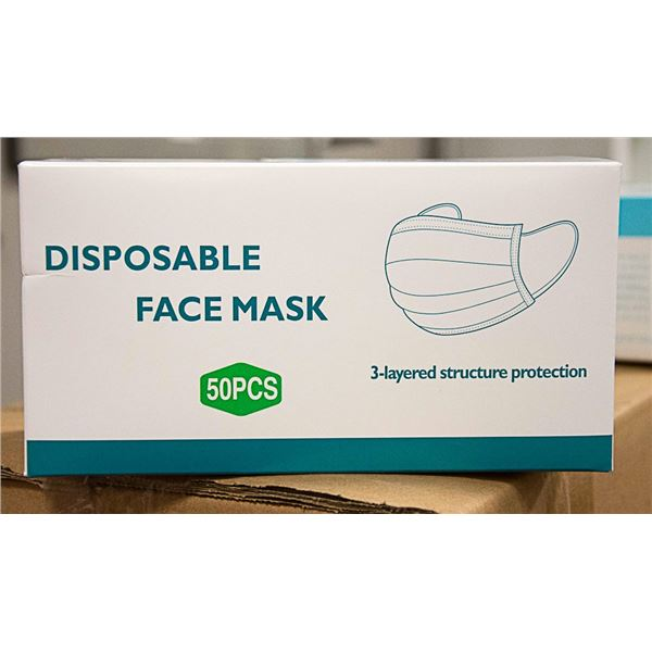 BOX WITH 50 DISPOSABLE FACE MASK