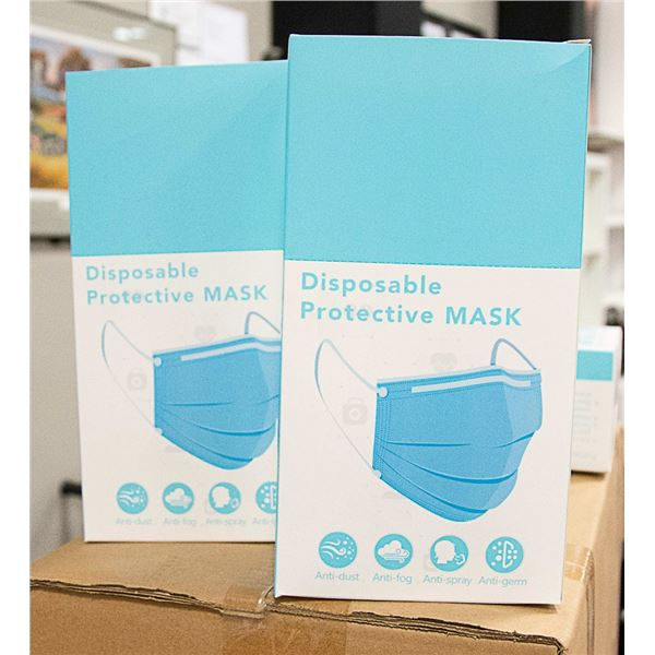 2 BOXES WITH 24 INDIVIDUALLY WRAPPED FACE MASKS
