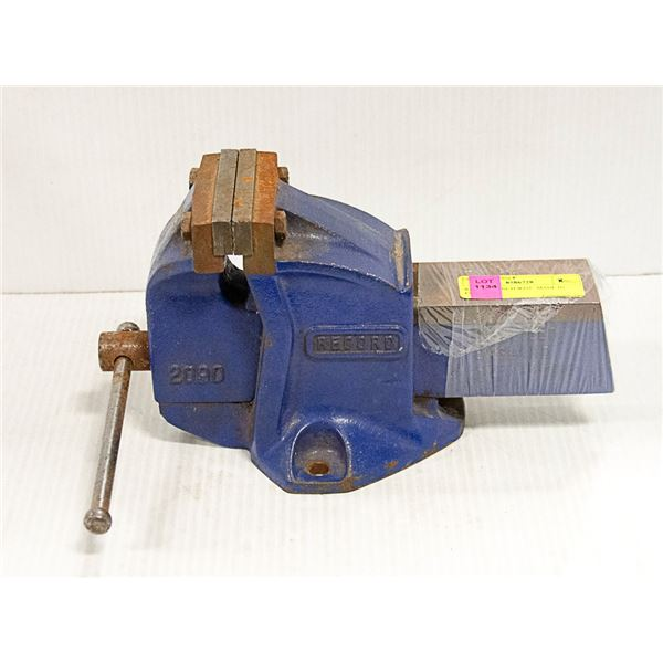 RECORD BENCH VISE. MADE IN ENGLAND.