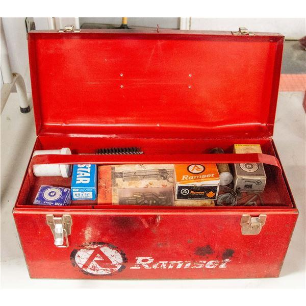 RAMSET GUN FASTENER WITH TOOL BOX