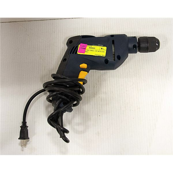 "120V ELECTRIC DRILL 3/8"" KEYLESS CHUCK DRILL"