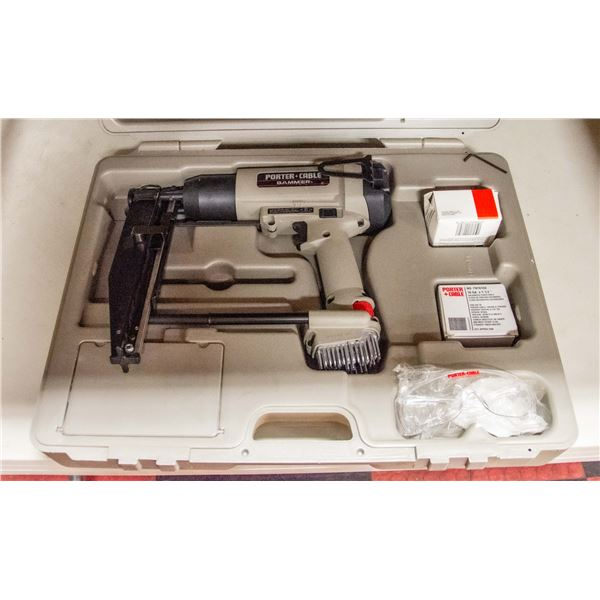 PORTER CABLE FINISHING NAILER IN CASE WITH NAILS