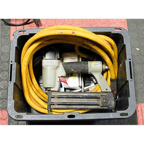 PORTER CABLE FINISHING NAILER W/ AIR HOSE