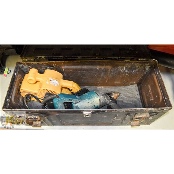 AMMO CASE W/ CORDED DRILL AND PLANE.