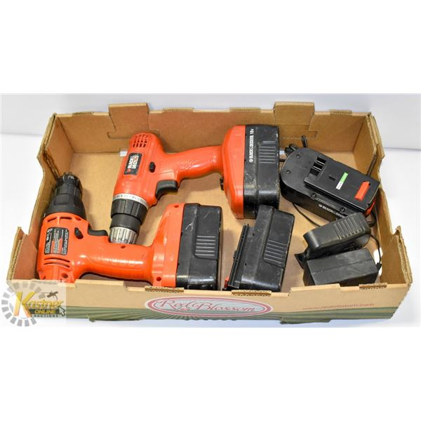 BLACK & DECKER 2 DRILL 18V SET WITH CHARGER