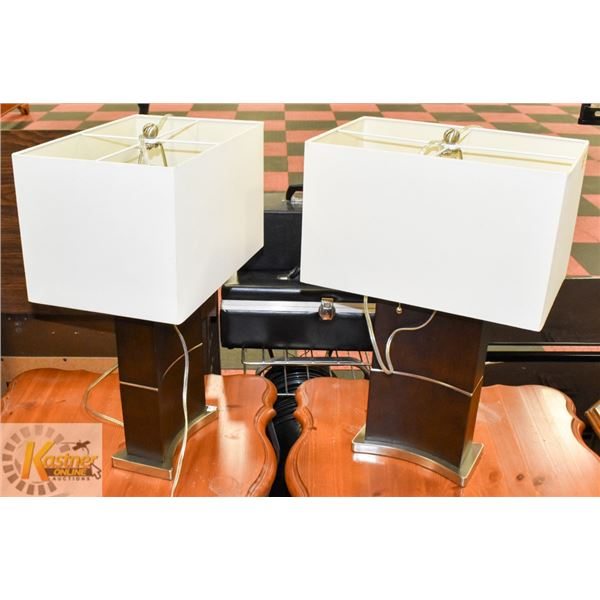 """PAIR OF TABLE LAMPS APPROX 22-1/2"""" TALL"""