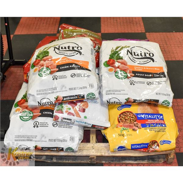 PALLET OF ASSORTED BRAND NAME DOG FOOD