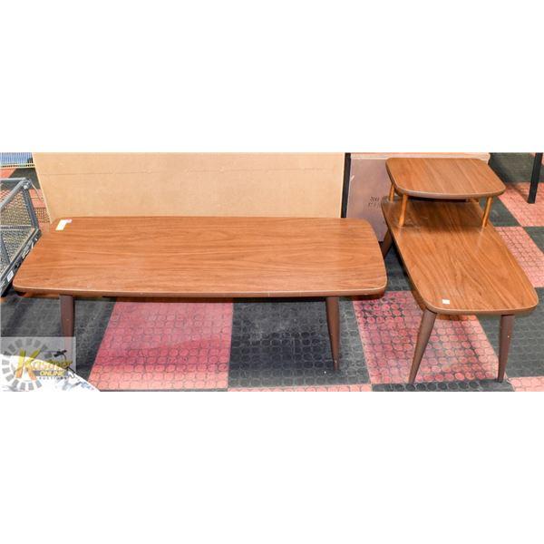 VINTAGE COFFEE TABLE & END TABLE SET