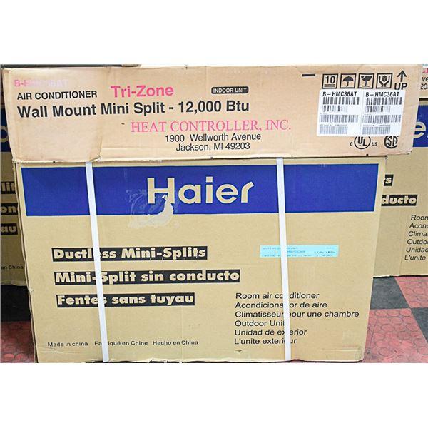 NEW HAIER 12,000BTU MINI-SPLIT AIR CONDITIONING