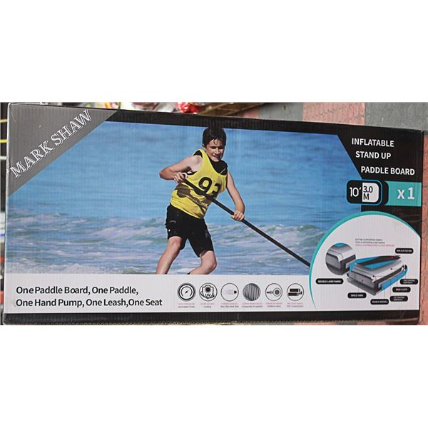 INFLATABLE STAND UP PADDLE BOAT(BLACK) - MARK SHAW