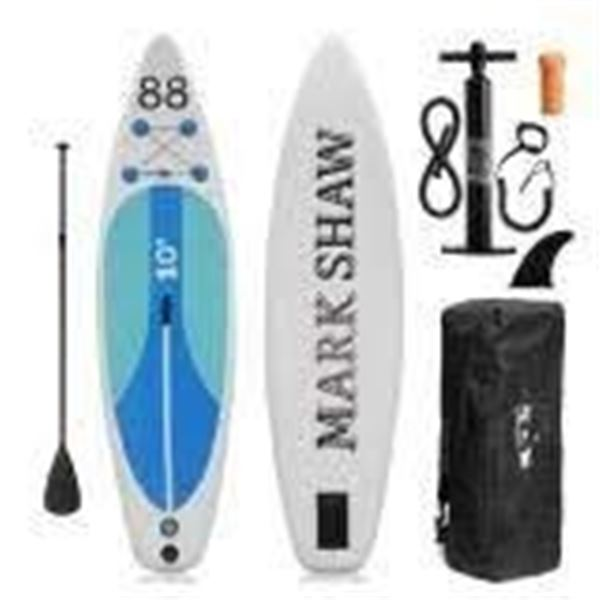 INFLATABLE STAND UP PADDLE BOAT(BLUE) BY MARK SHAW