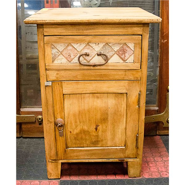 NIGHT STAND WOODEN WITH TOP DRAWER