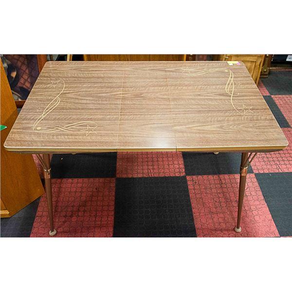 """VINTAGE KITCHEN TABLE 38""""X30"""" - 1 LEAF 9 1/2"""""""