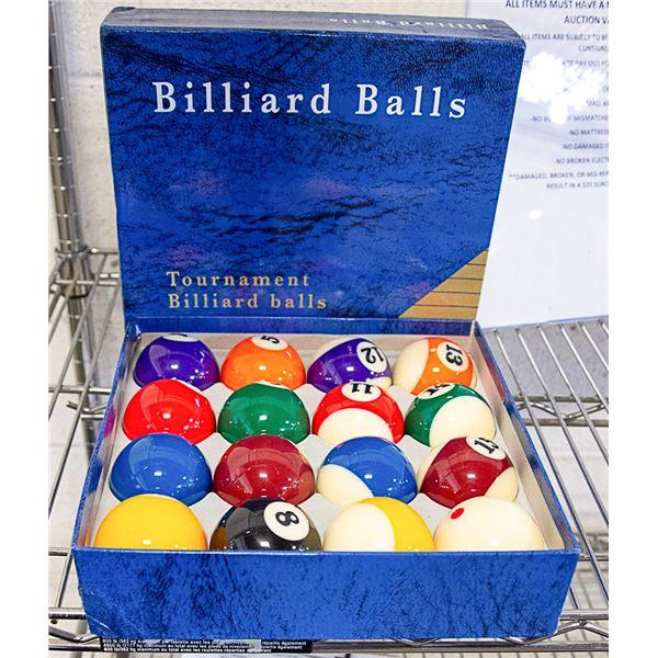 NEW SET OF BILLIARD BALLS