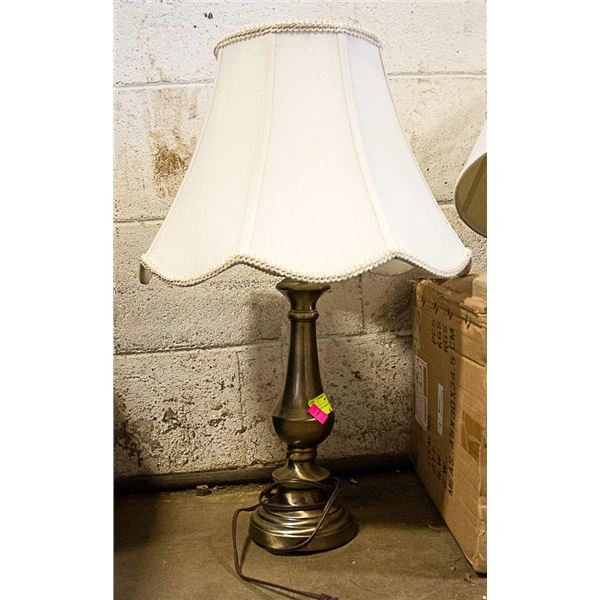 VINTAGE BRASS COLOURED TABLE LAMP