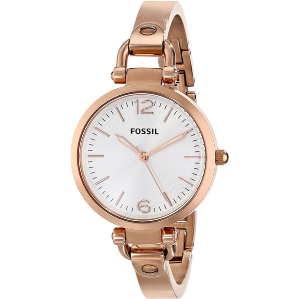 NEW FOSSIL WHITE DIAL ROSE-GOLD TONE 34MM WATCH