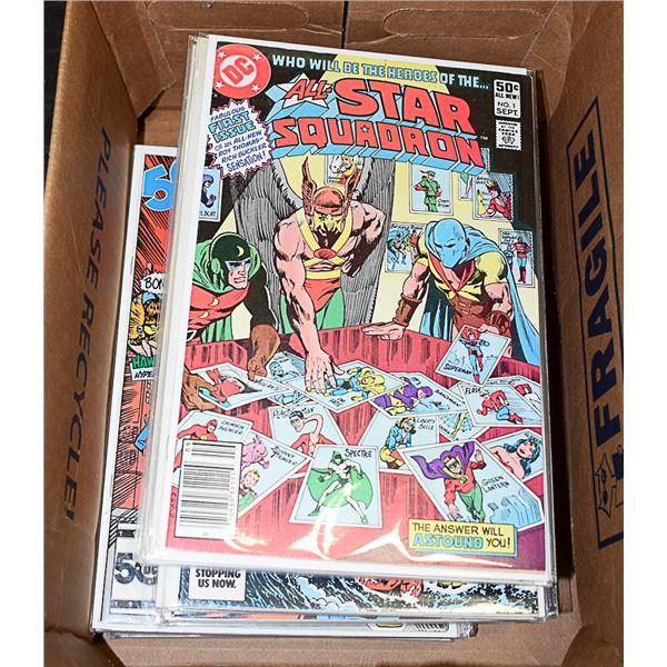 COMICS LOT OF 40 COMIC BOOK ALL STAR SQUADRON DC