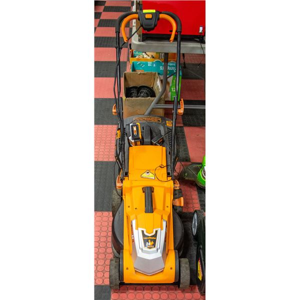 LAWN MASTER 24V BATTERY OPERATED LAWN MOWER WITH