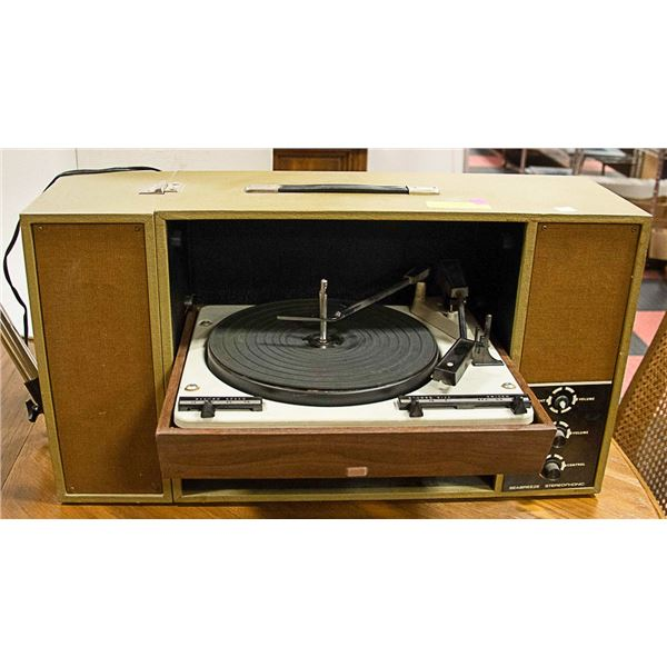VINTAGE SEABREEZE STEREOPHONIC RECORD PLAYER