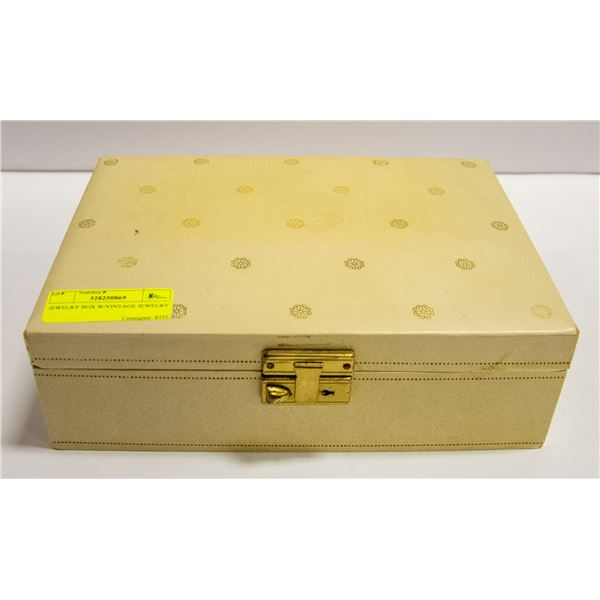 JEWELRY BOX W/ ASSORTED JEWELRY