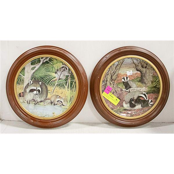 8 COLLECTOR PLATES-WOODLAND YEAR SIGNATURE