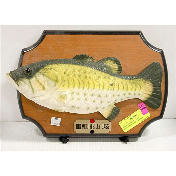 BIG MOUTH BILLY BASS FISH-CONDITION UNKNOWN