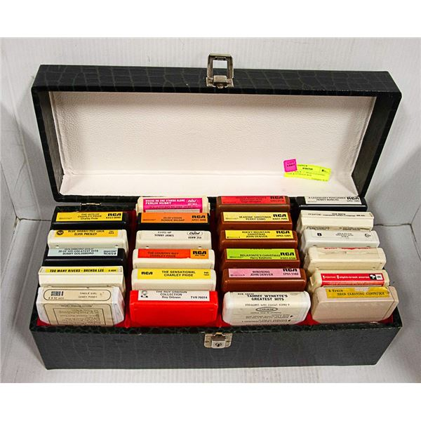 """""""22"""" 8-TRACK """"1"""" HEAD CLEANING TAPE & STORAGE BOX"""