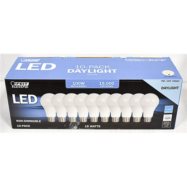 10 PACK FEIT 100 W REPLACEMENT LED LIGHTS DAYLIGHT