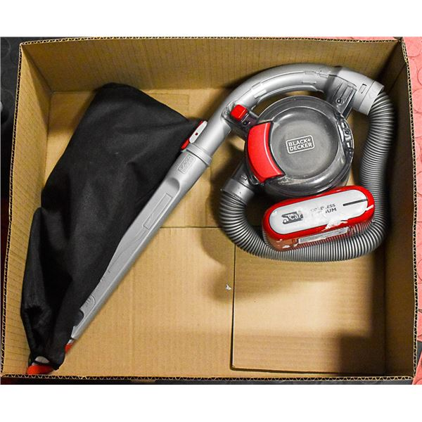 B & D CORDLESS PORT HOME & CAR VACUUM WITH