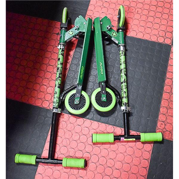 2 AVIGO COMBAT SKATE BOARDS