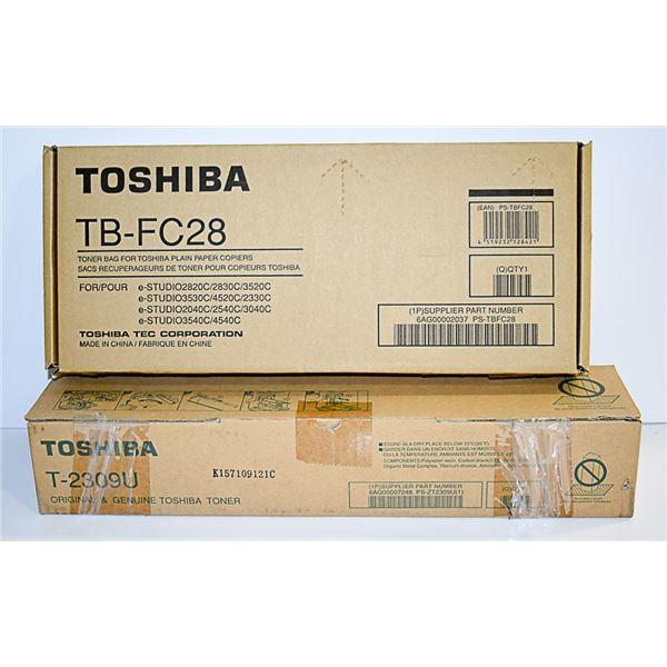 TOSHIBA T-2309U PRINTER TONER AND TB-FC28
