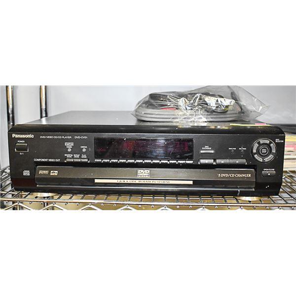 PANASONIC 5 CAROUSEL DVD/CD PLAYER WITH WIRING