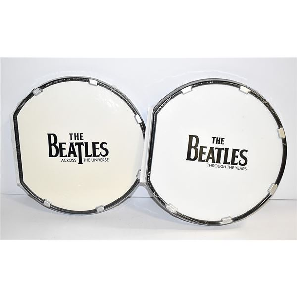 2 BEATLES BOOKS IN THE SHAPE OF A DRUM
