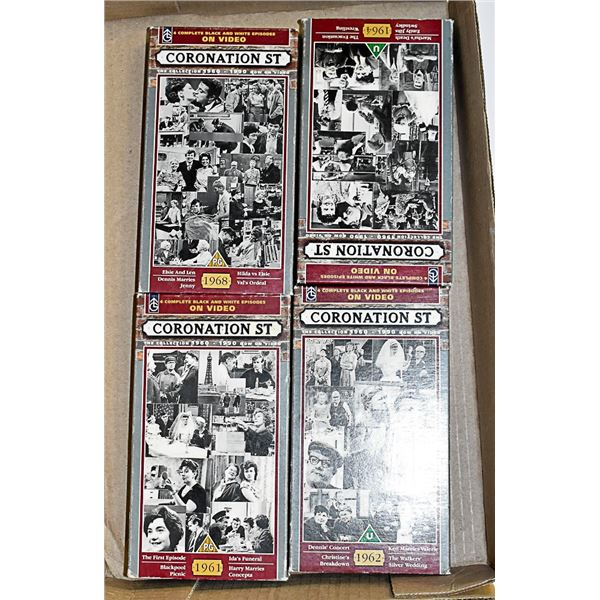 LOT OF 4 CORONATION STREET VHS TAPES