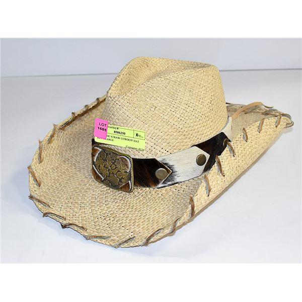 BULLHIDE STRAW COWBOY HAT SIZE X-LARGE